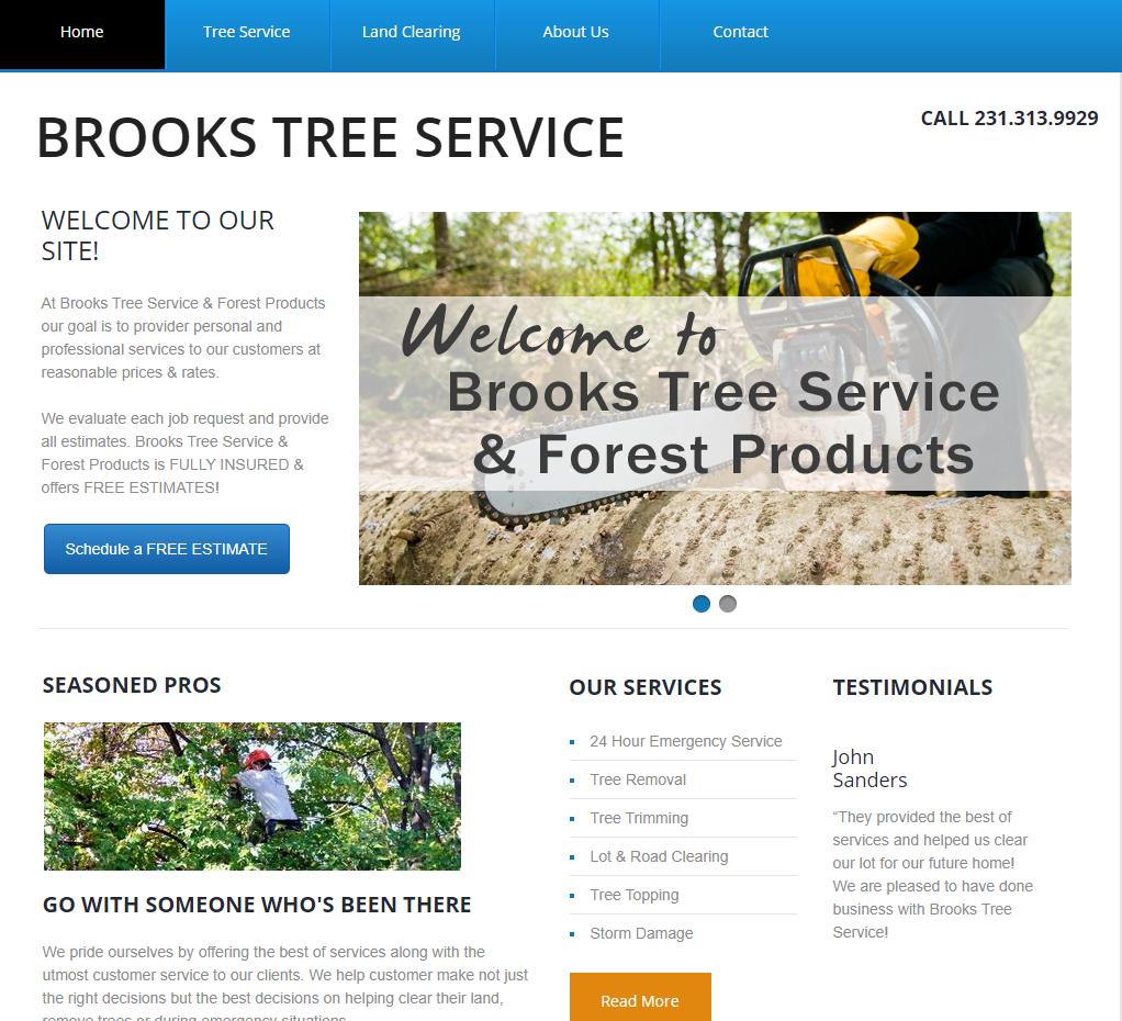 brooks tree service screen shot